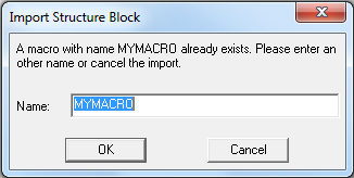 Select export file